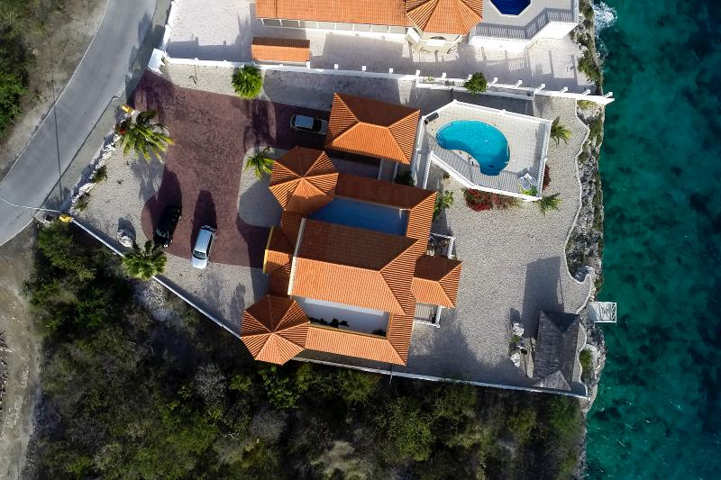 Top view of the villa