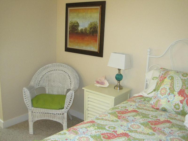 Bright colors and a warm, inviting decor insures a peaceful rest after a full day of activities