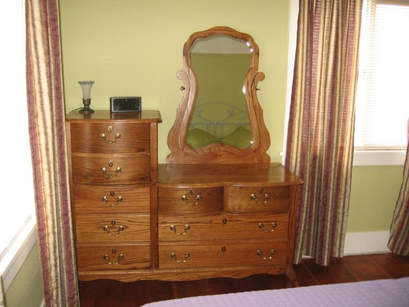 Dresser in the king bedroom