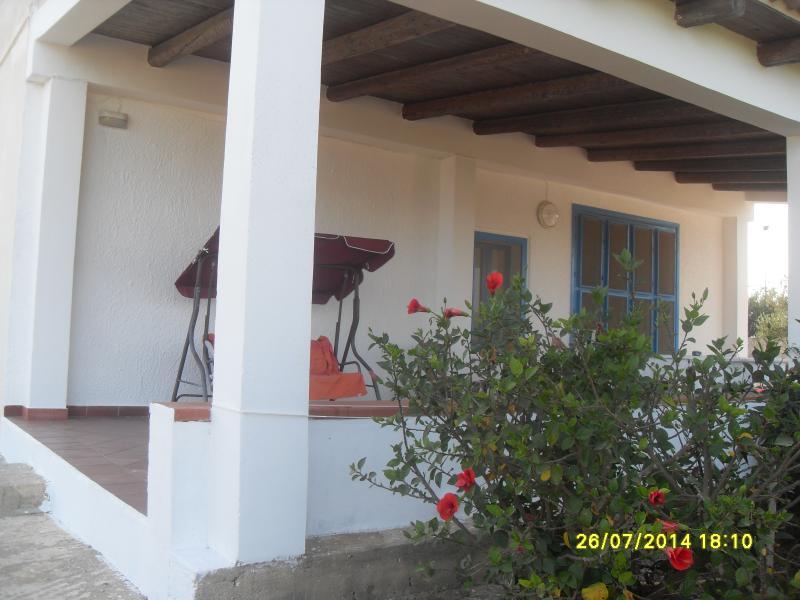 The veranda oriented to east