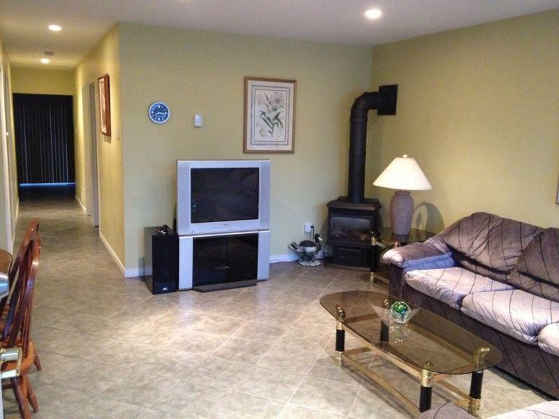 Sala de estar con sofá tire
