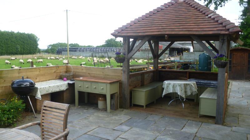Gazebo with BBQ area