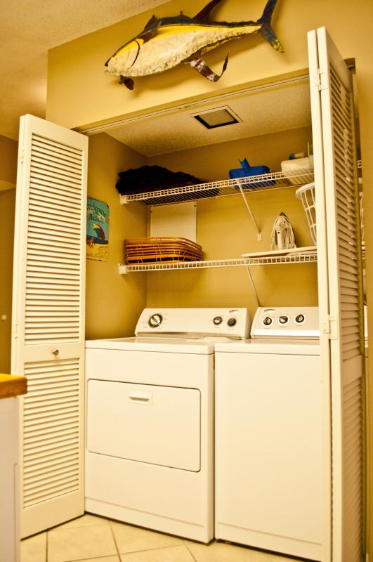 Furnished with a washer & dryer