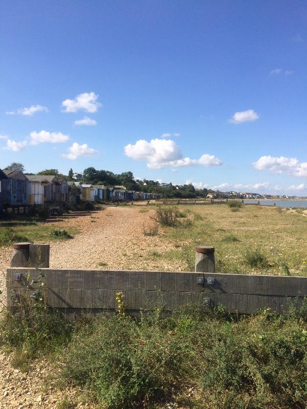 Beach path from Whitstable.
