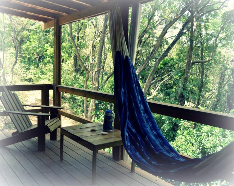 Each suite enjoys a private porch with a traditional Peressosa chair and hammock
