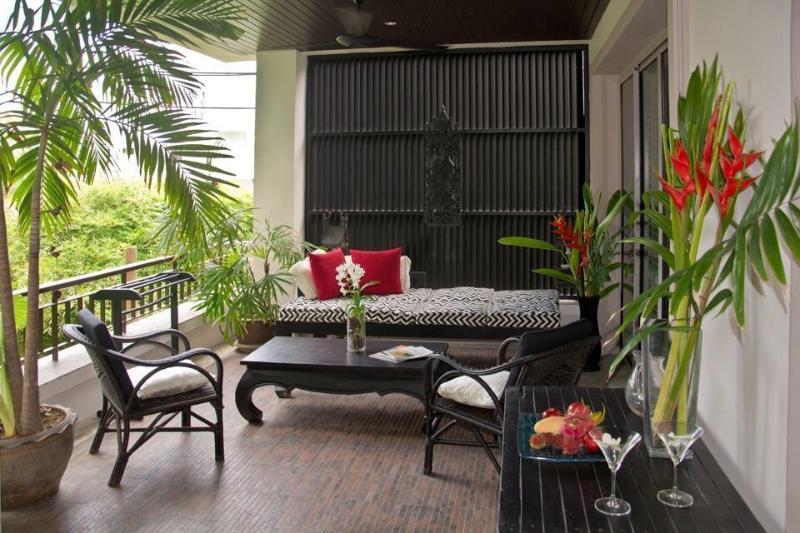 Salotto giardino esterno