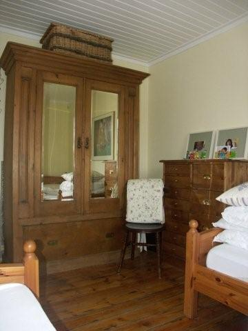 Antique wardrobe in twin bedroom (ground floor)