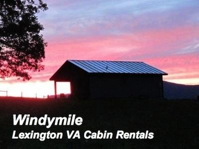 A Sunset at this Lexington VA Cabin rental is Jaw Dropping! Call today!