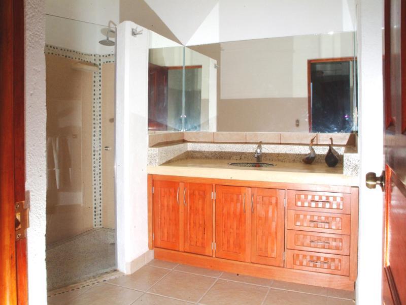 Mestre banheiro (chuveiro com azulejos e pia de Talavera)