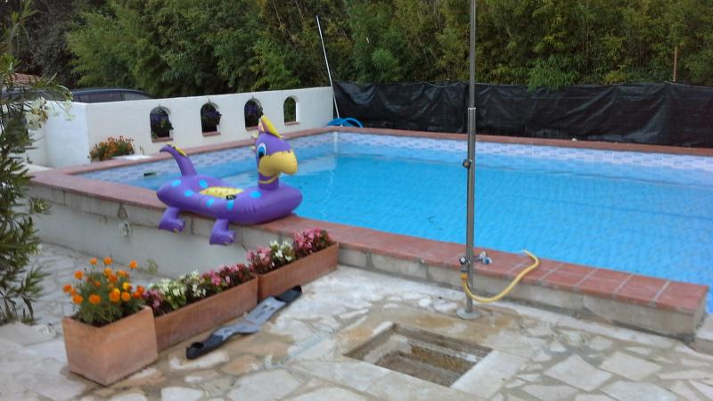 The re fitted pool