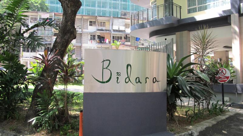 The signage of the apartment