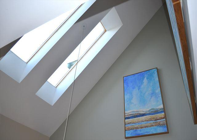 Skylights over the living room.