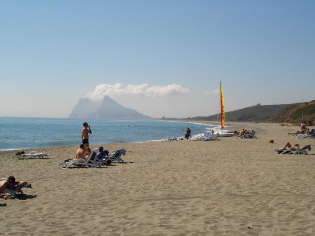 Alcaidesa Beach with views of Gibraltar rock