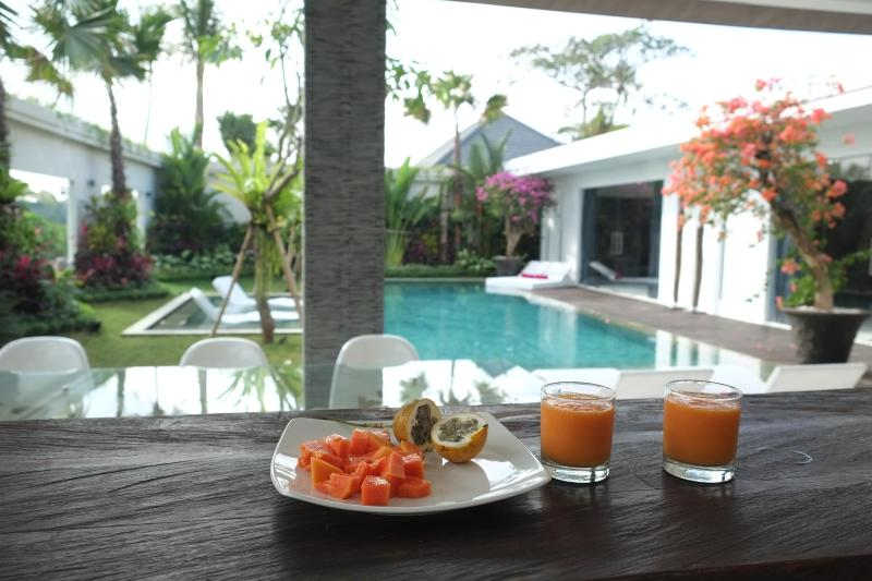 Enjoy your breakfast near the pool