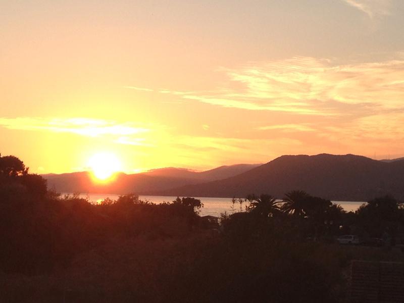 Coucher de soleil vue de la terrasse