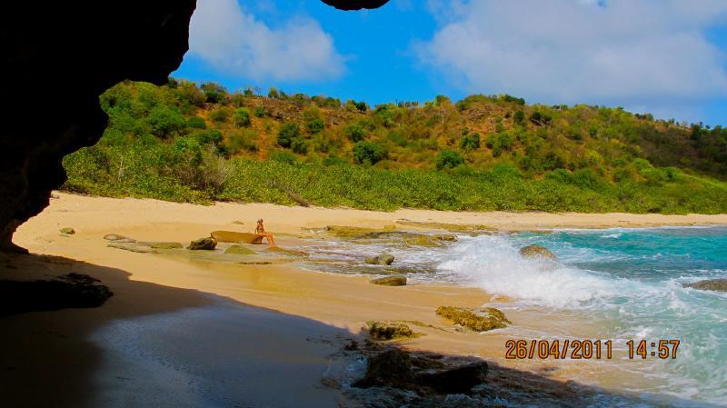 Pristine beach within walking distance