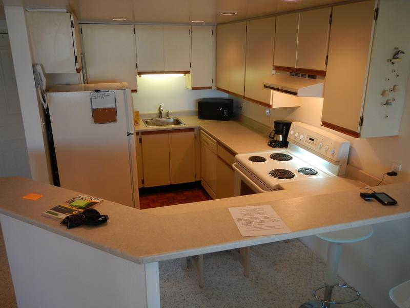 Open kitchen with dw, full stove, fridge and all cooking tools and appliances