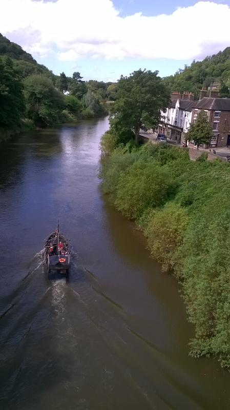 Back of Ironbridge View Town House on the right.Watch the pirate boat trip sail by from the armchair