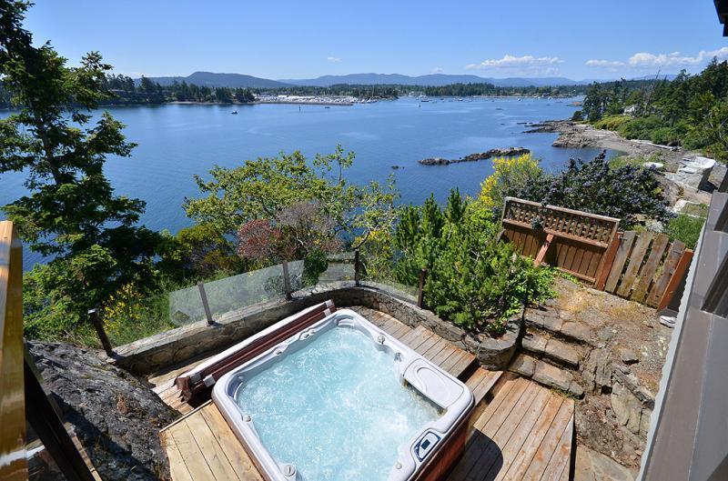Hot tub with incredible views