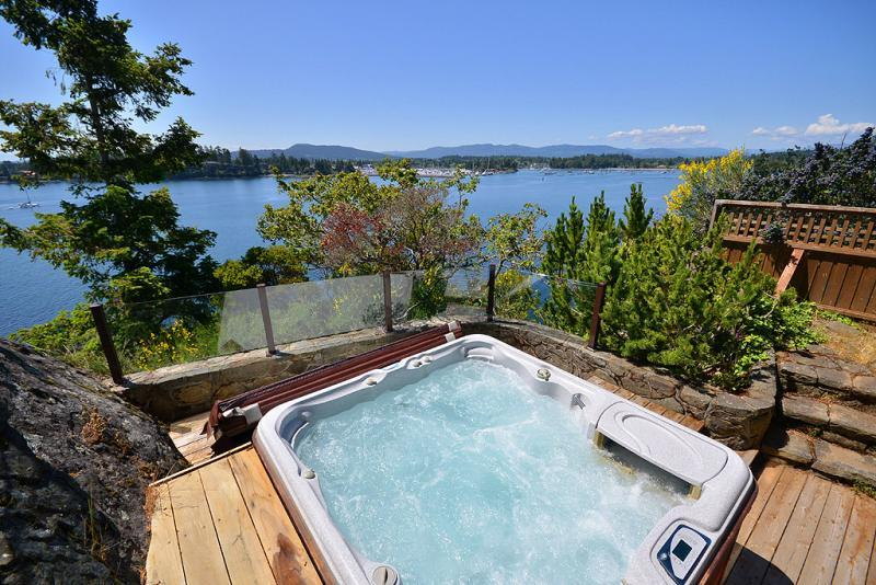 Hot tub with incredible views