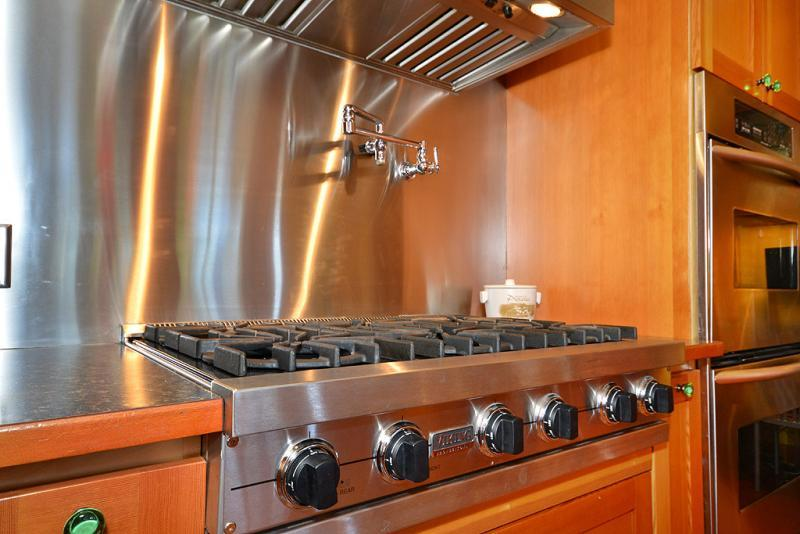 6 burner gas stove with double oven