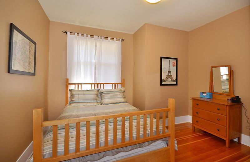 Queen size bed in bedroom number 3