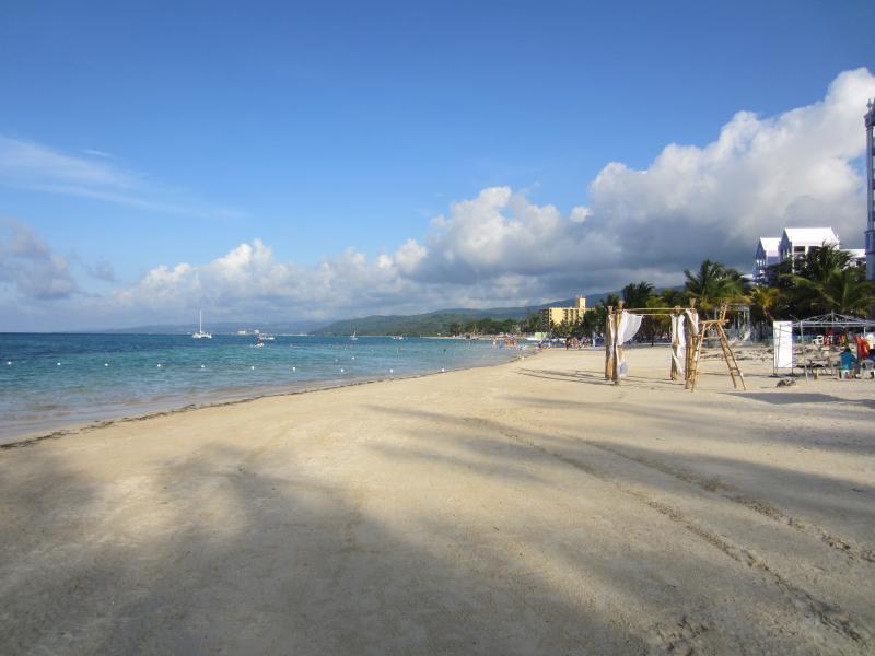 Mammee Bay private beach looking towards Riu Hotel & Ocho Rios