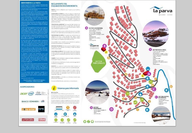 La Parva town map, apartment between 8 and 9