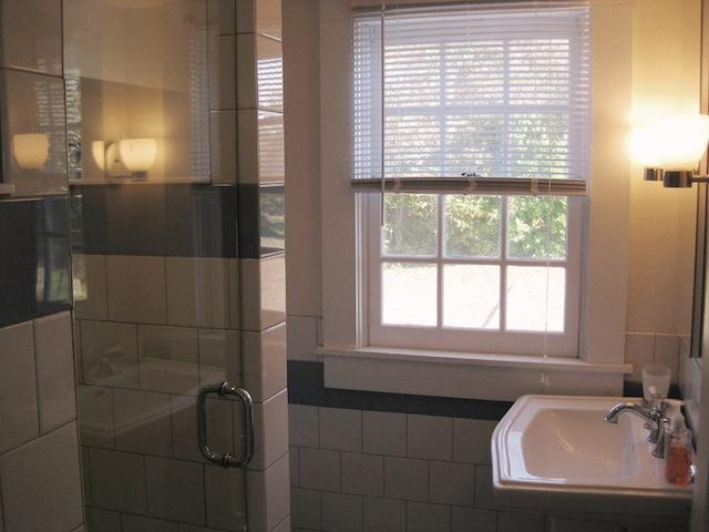 Bathroom 1 on the 1st floor with a shower - 30 Seabeach Road Chatham Cape Cod New England Vacation Rentals