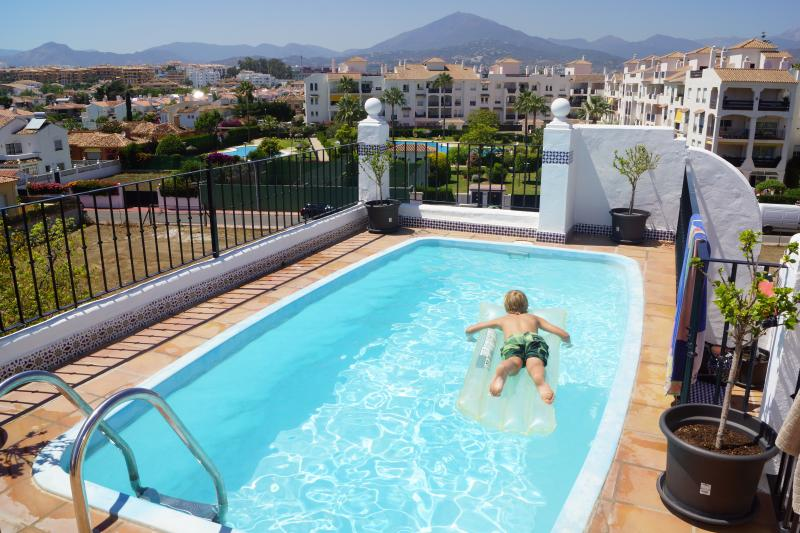 Private pool on the roof terrace