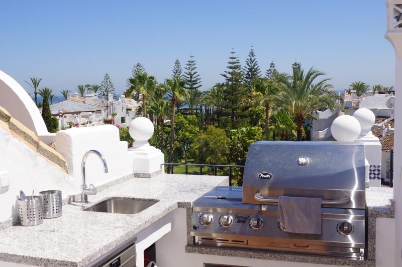 Fully equipped kitchen on the roof terrace