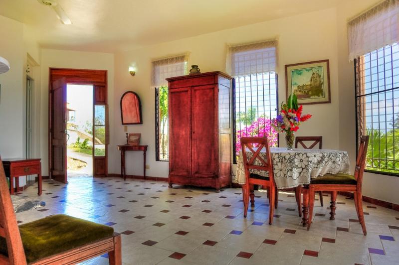 Breezy, open spacious design with vista to the gardens and ocean