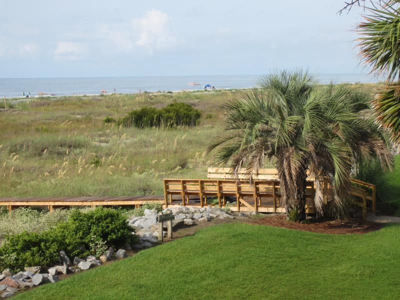 Beach access photo from balcony