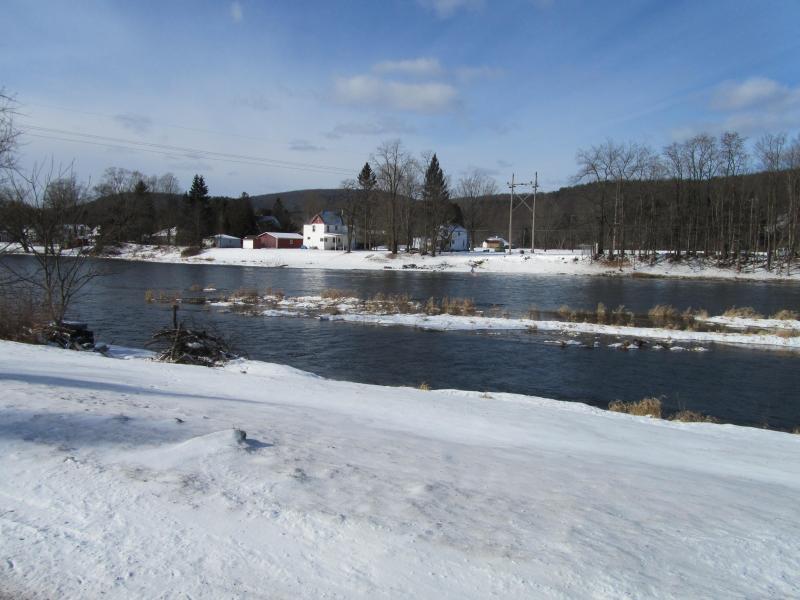 hiver à la rivière