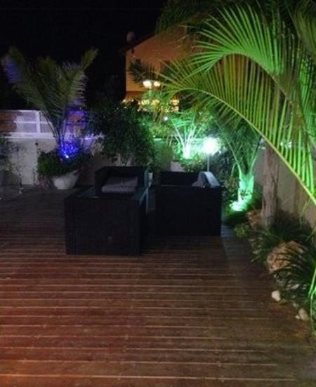 The deck, at night. (Small part of it)