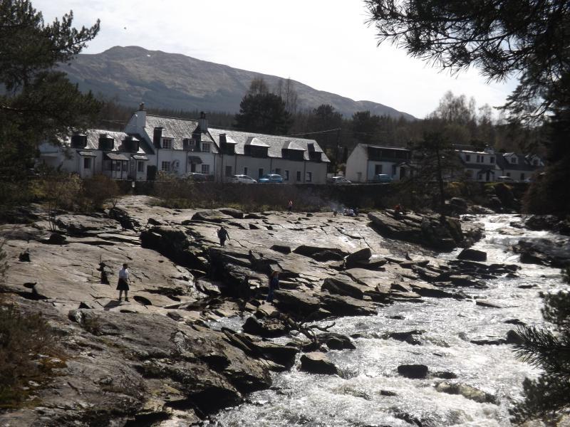Falls of Dochart from bridge just two mins from door