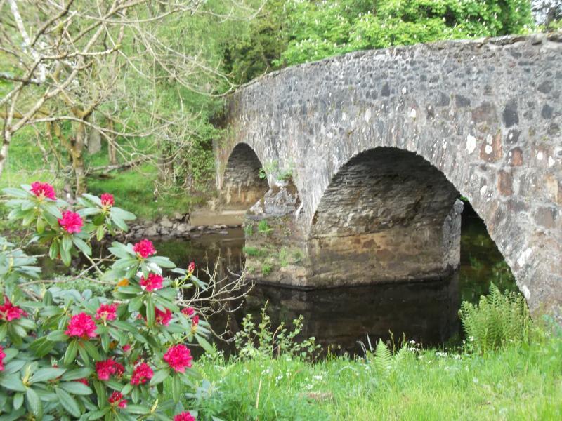 Bridge over Balvaig taken from estate river bank