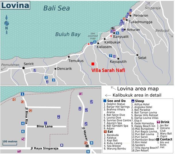 Lovina Map