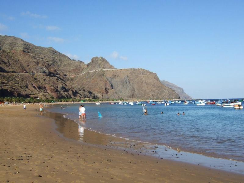 The Teresitas beach