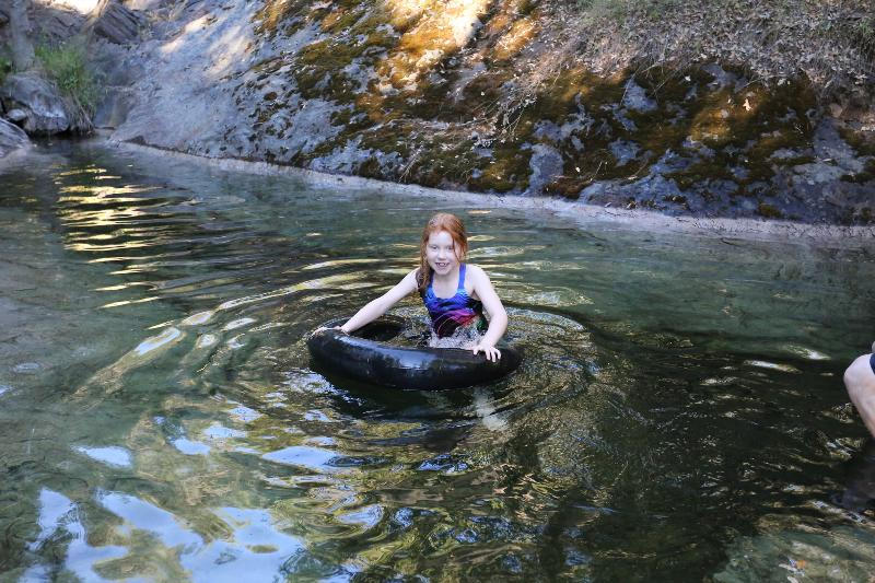 Upper swimming hole - always full!