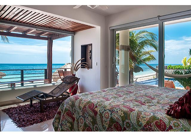 Luxury Two Bedroom Oceanfront Condo, private deck, holiday rental in Puerto Morelos