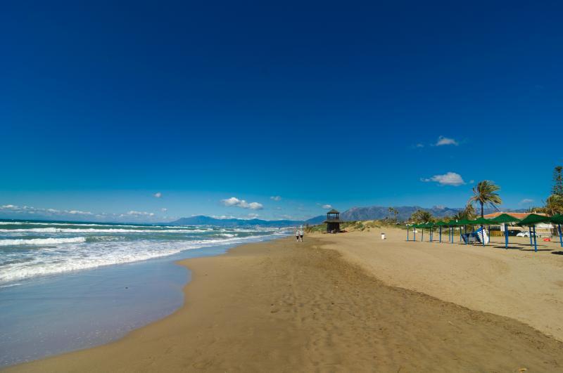Small and clean beach of Playa de la Vibora
