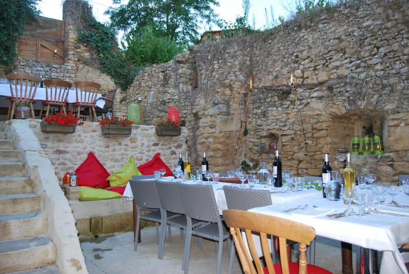 Outside Dining In Our 12th Century Ruin