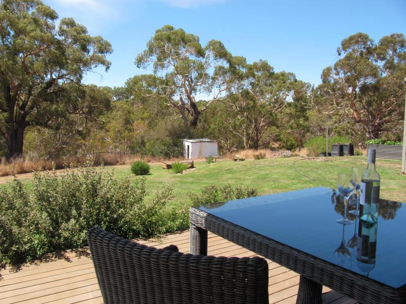 Relax on the cottage deck & enjoy the atmoshpere