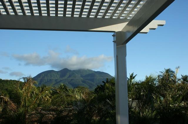 Ansichten von Nevis Peak von der Terrasse zurück