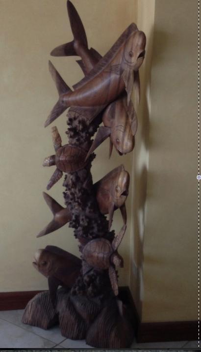 Museum kvalitet konst skulpturer i hela lägenheten