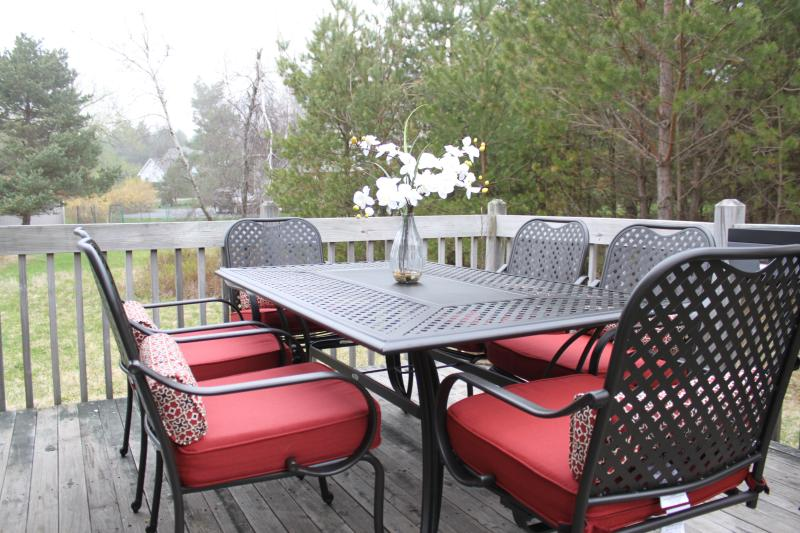 Outdoor patio furniture wth gas grill