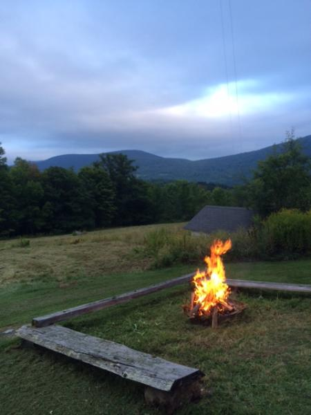 view from the fire pit