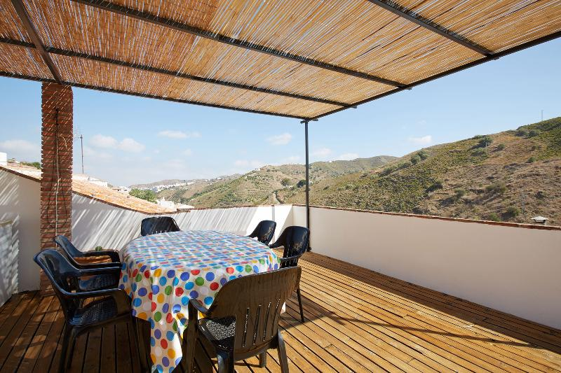 Rooftop Terrace with views to the village and mountains