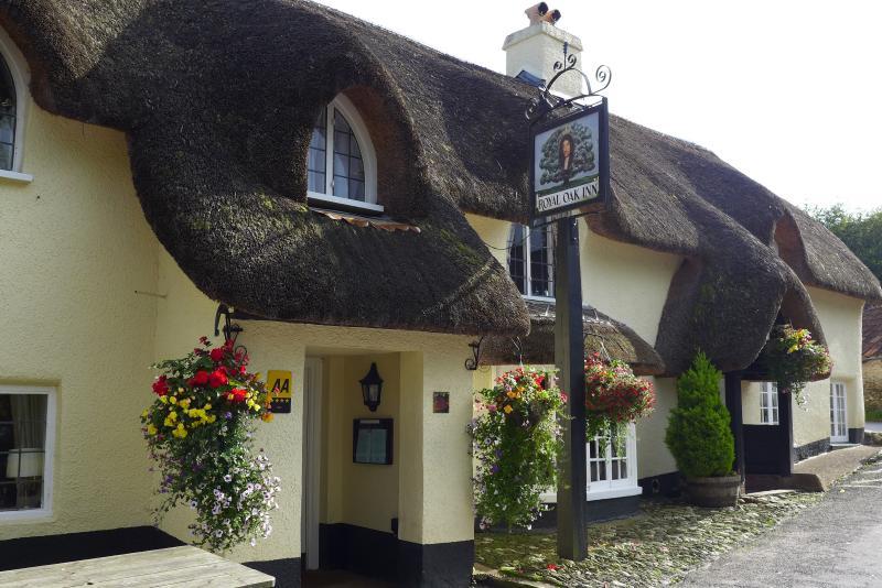 La Royal Oak, le pub local de Winsford XIIe siècle